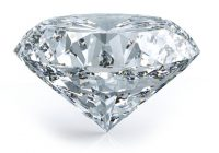 A diamond with a white backgroud