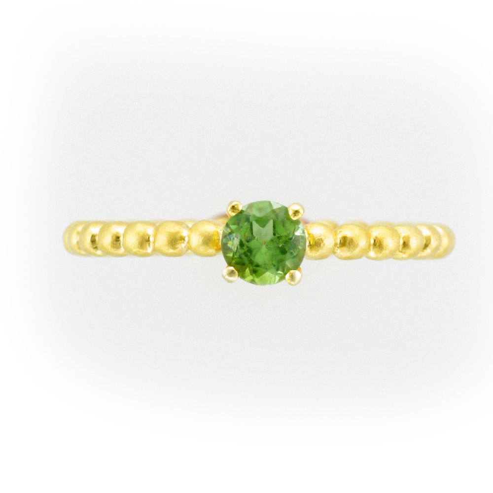 Green Tourmaline Stacking Ring