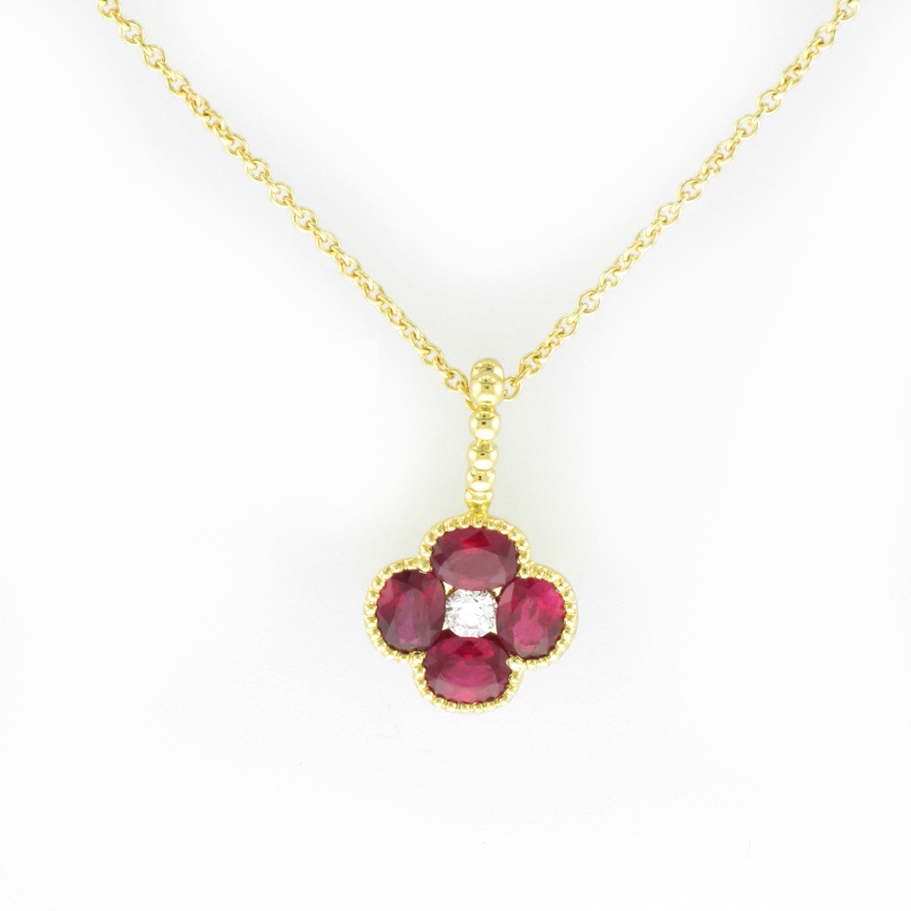 Ruby and Yellow Gold Pendant
