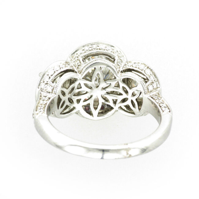 White Gold Ring with Multiple Diamonds