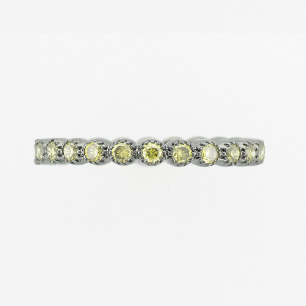 Green Diamond Wrap Ring