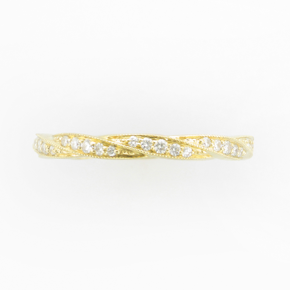 Yellow Gold Twine Diamond Band