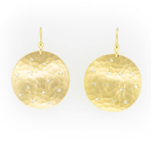 14 karat yellow gold earrings have a total carat weight of .28.