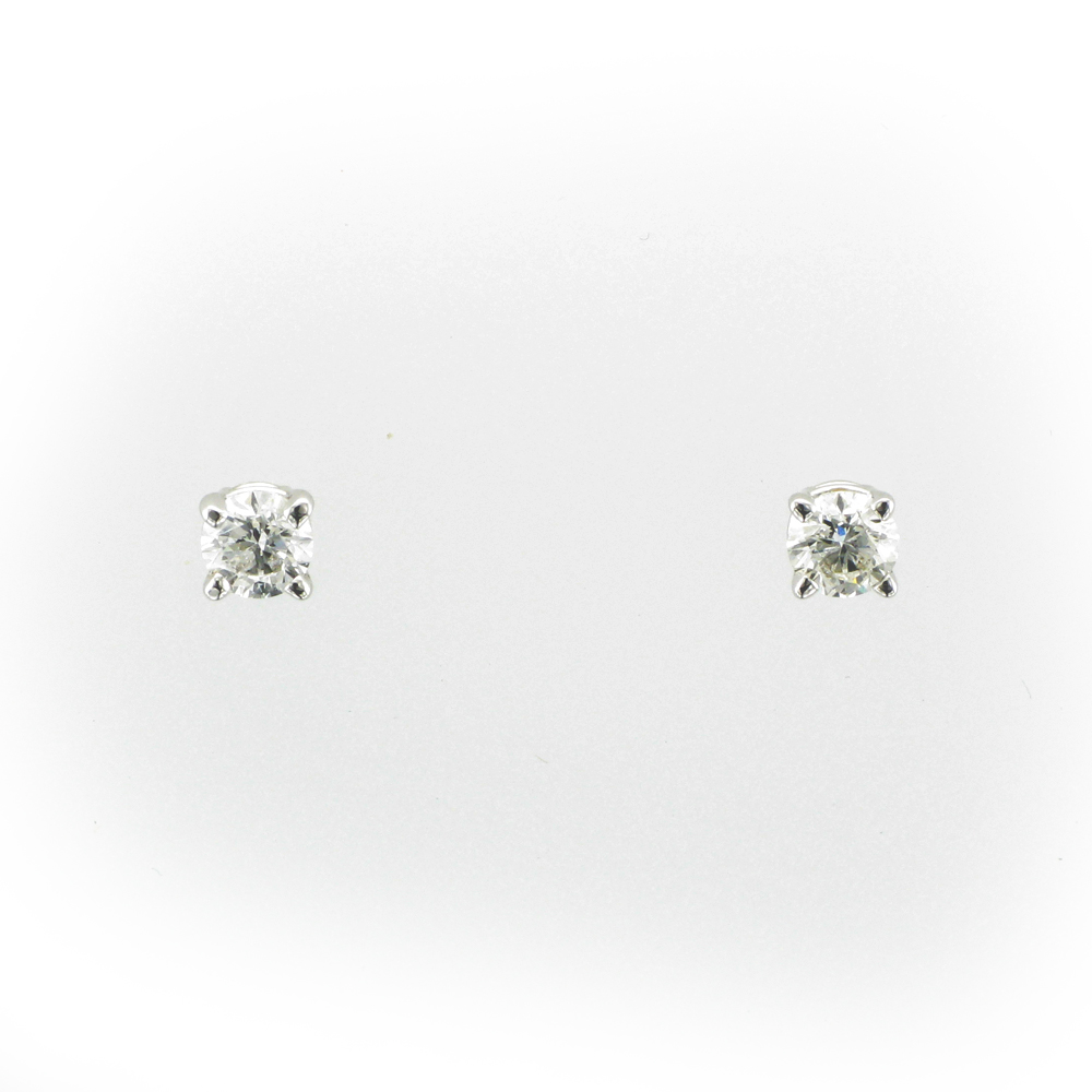 Four Prong Diamond Earrings