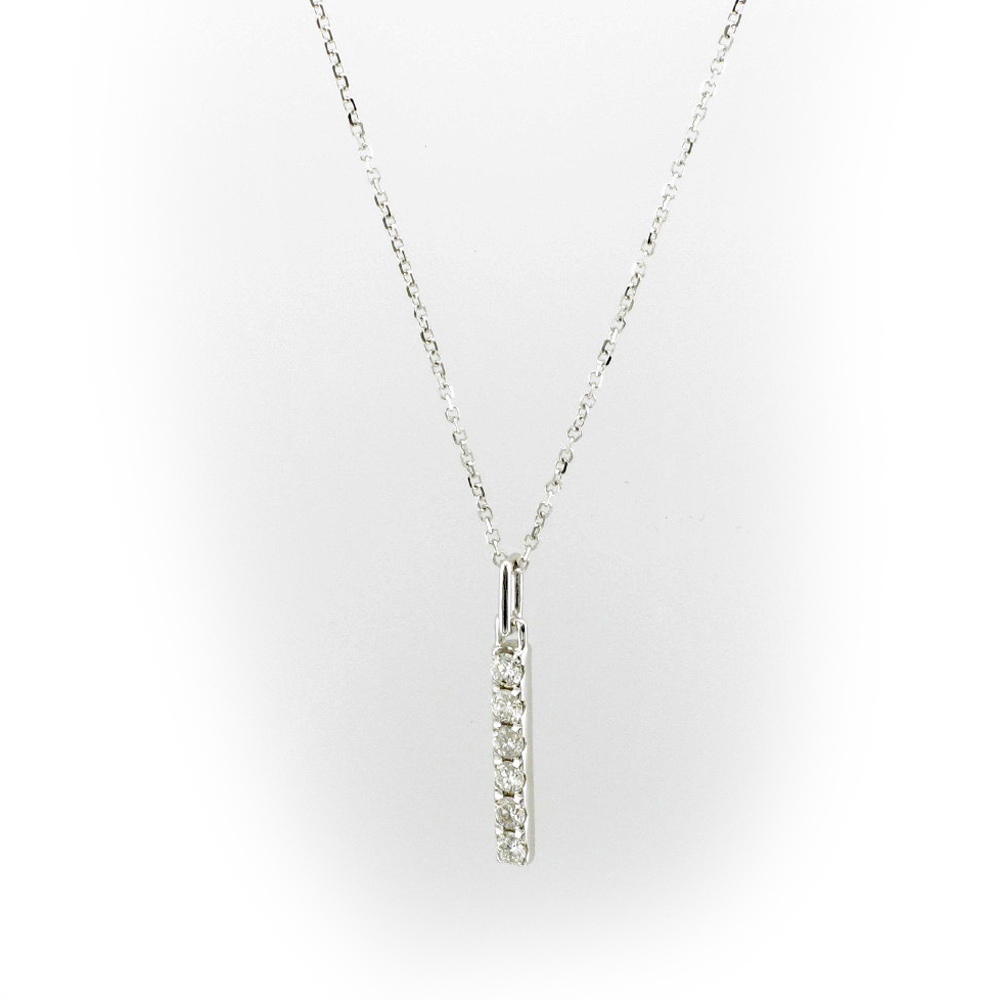 Vertical Diamond Bar Pendant