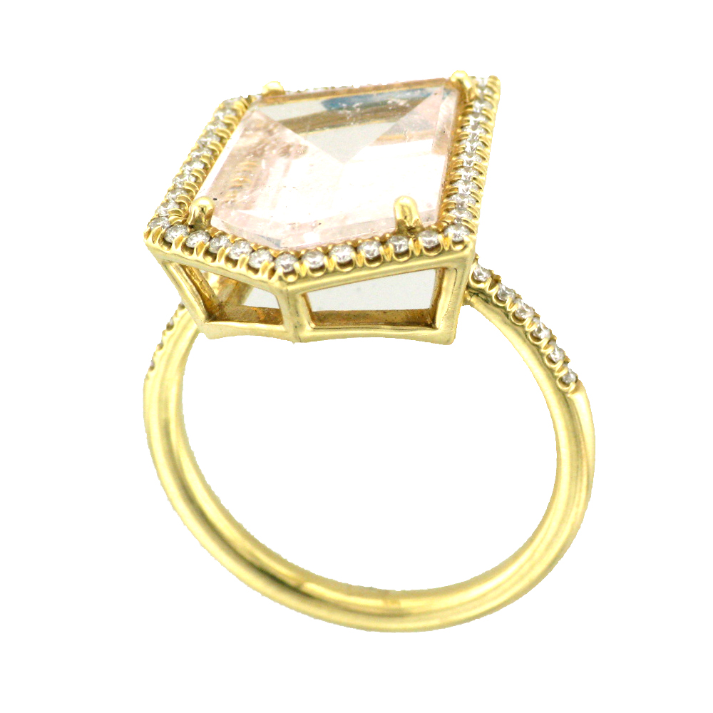 Yellow Gold and Morganite Ring