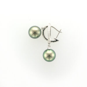 8.5-9MM TAHITIAN PEARL & DIA DROP E/R