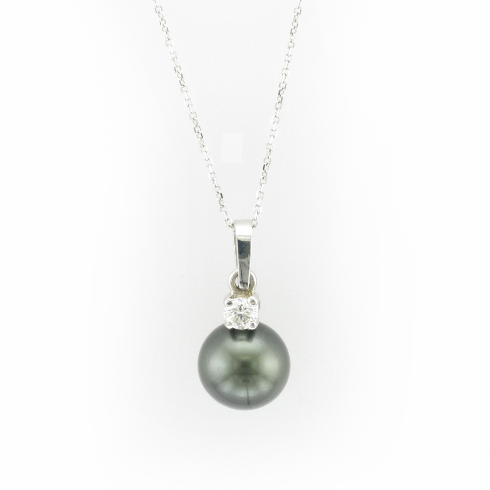 White Gold Pendant with Tahitian Pearl