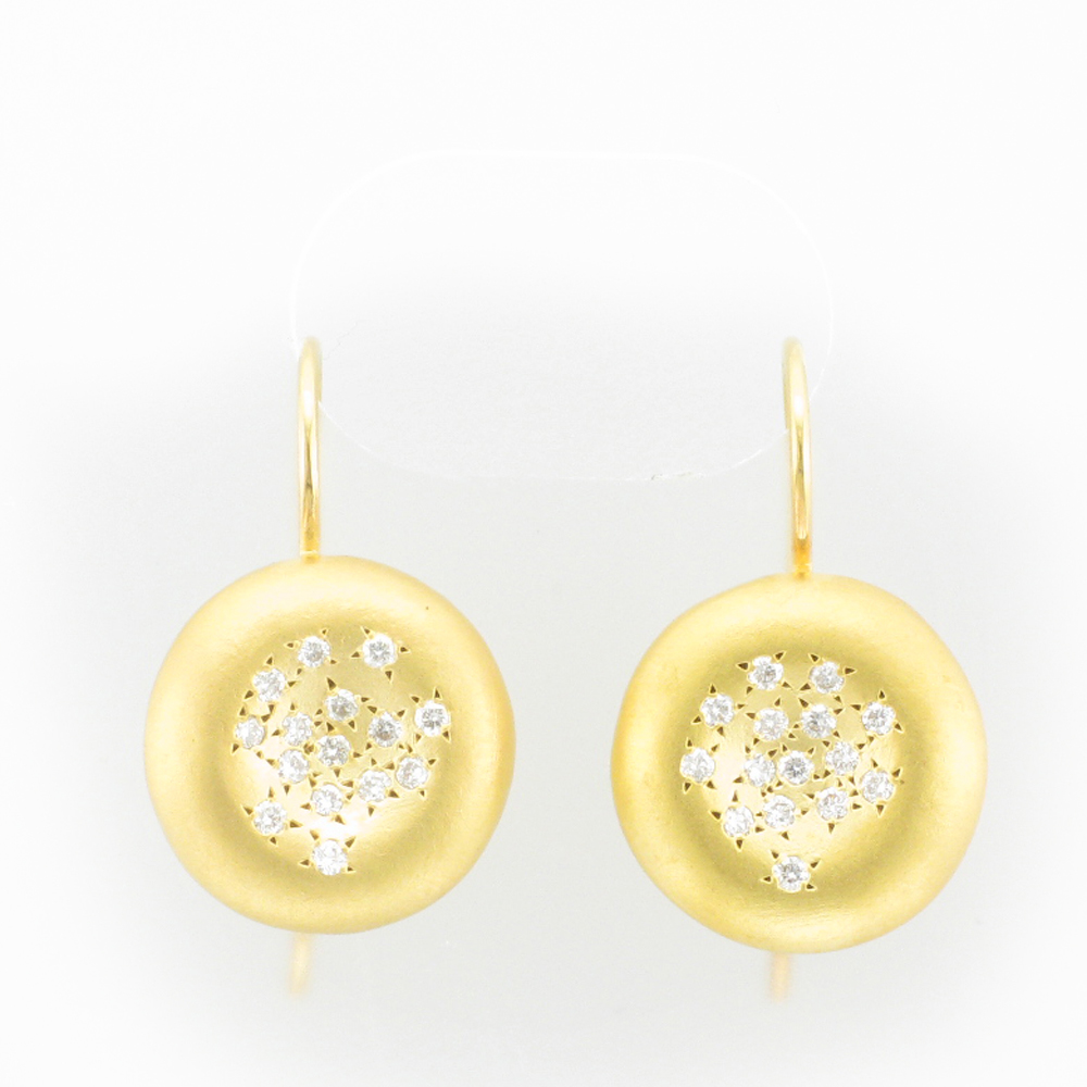 Gold Scattered Diamond Earrings