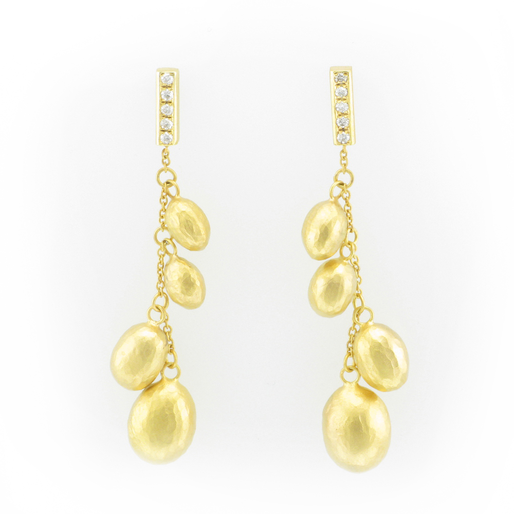 Gold Bead Drop Earring