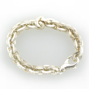 chain bracelet is made from Sterling Silver.