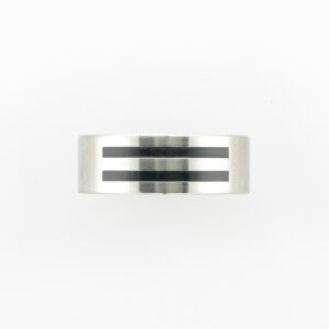 This sterling silver ring is size 10.