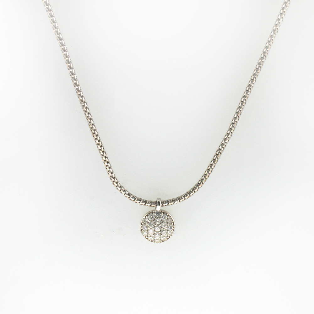Sterling Silver Pave Sapphire Pendant