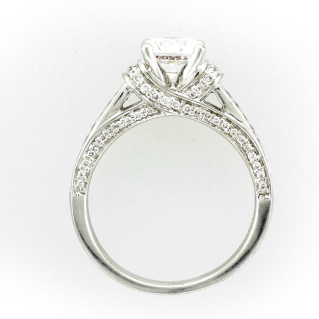 White Gold Pave Setting