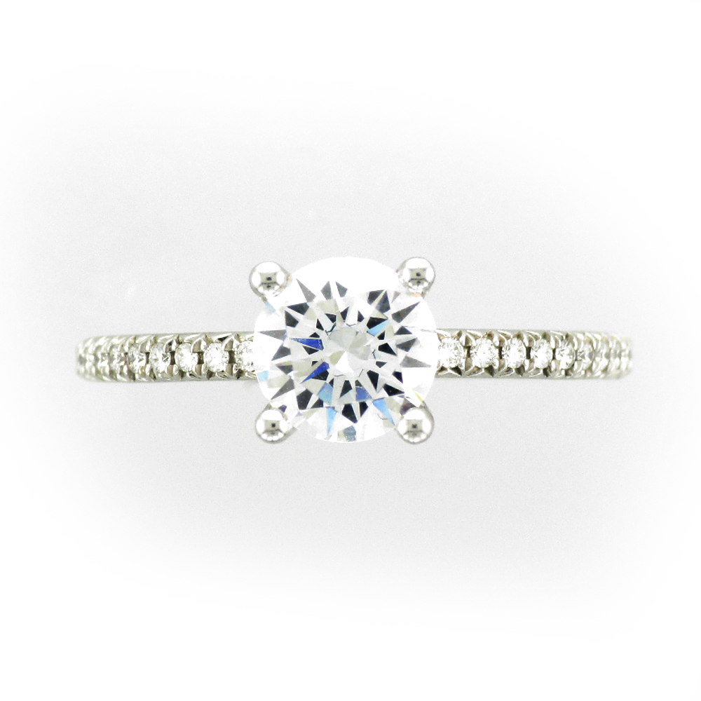 White Gold Engagement Ring Setting