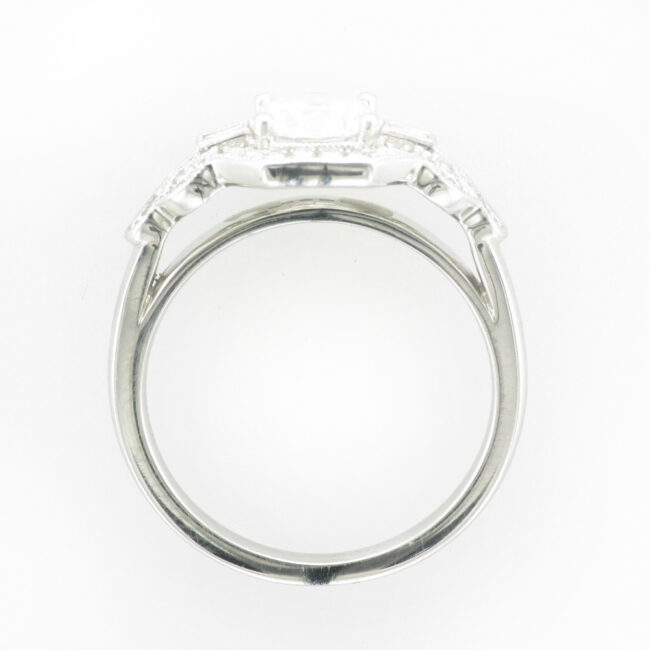 White Gold Deco Ring