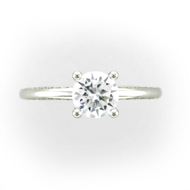 Profile Set Diamond Ring