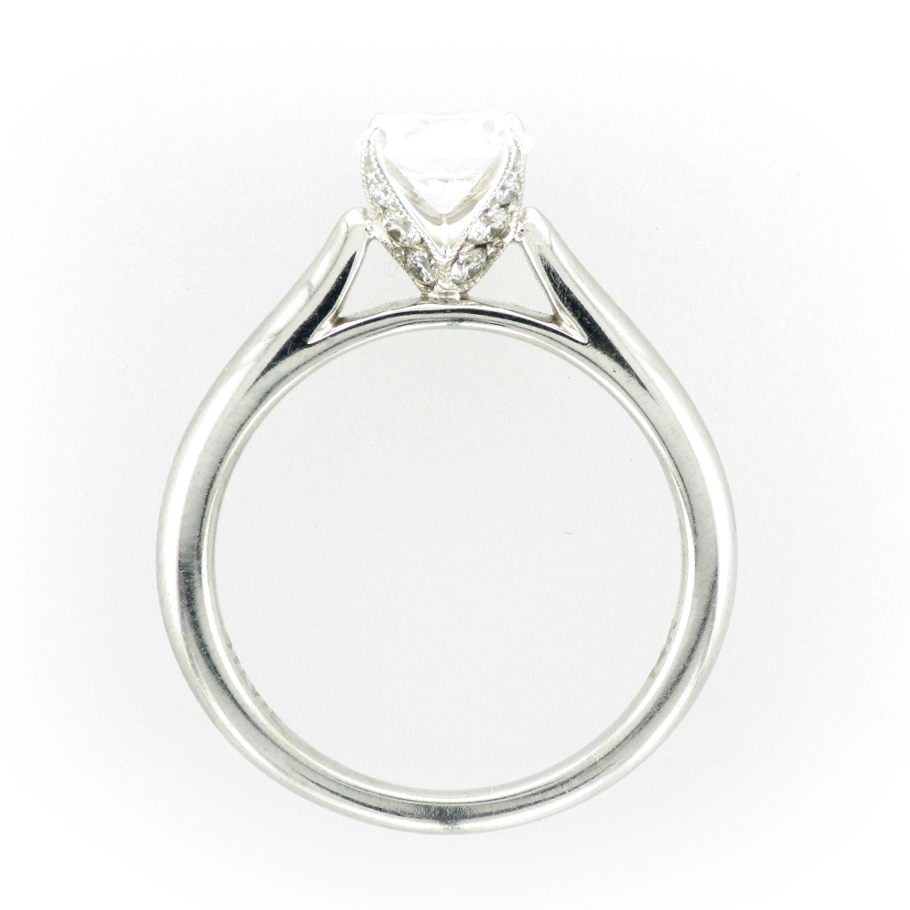 Solitaire Ring with Diamond Prongs