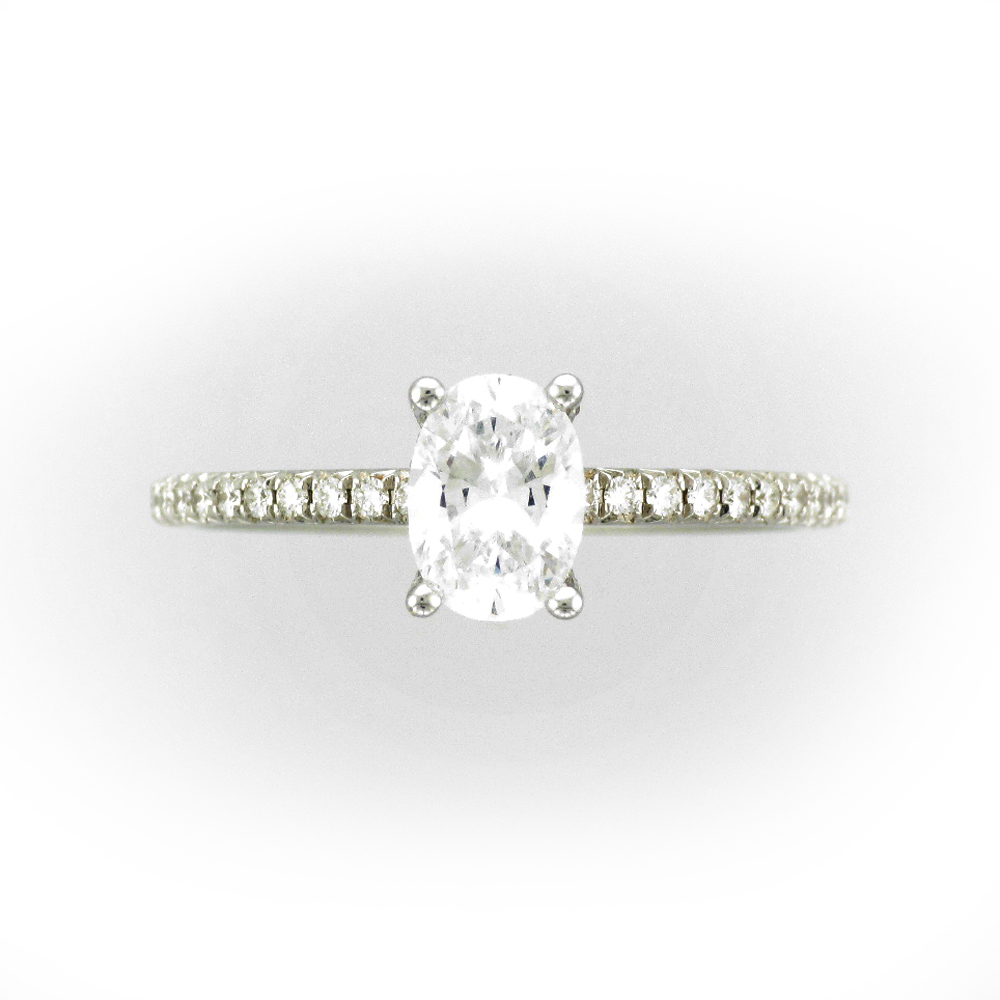 Oval Stone Engagement Ring Setting