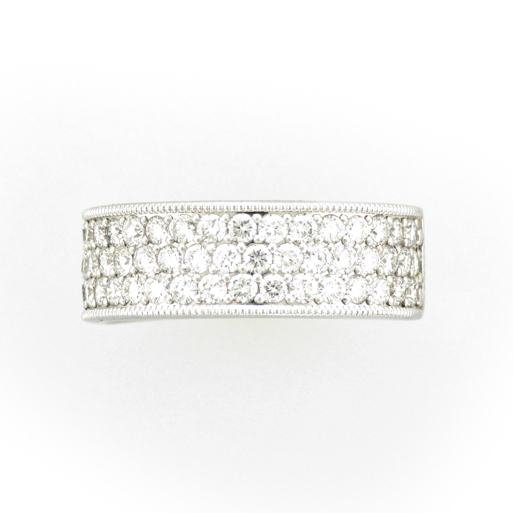 Pave Band with Beaded Edge