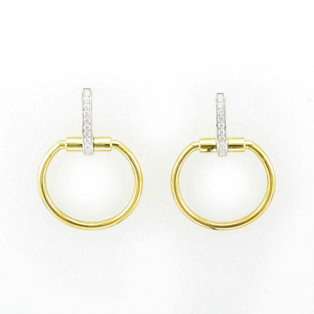Parisienne Circle Drop Earrings