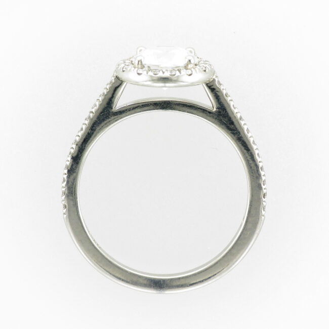 Platinum Halo Ring Setting