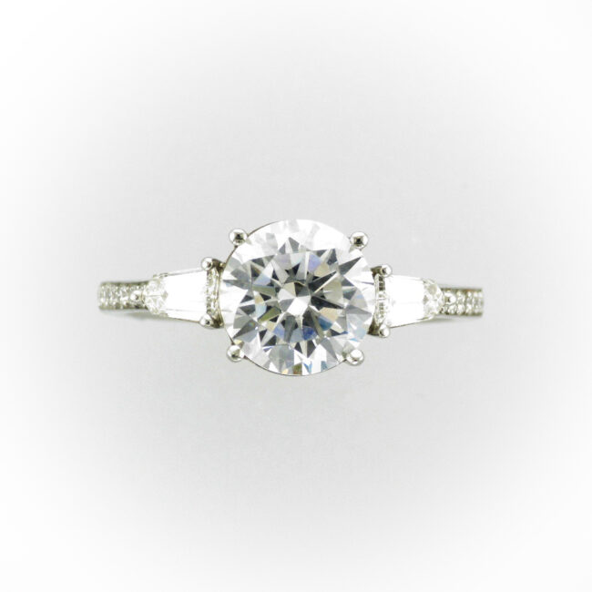 Platinum Diamond Engagement Setting
