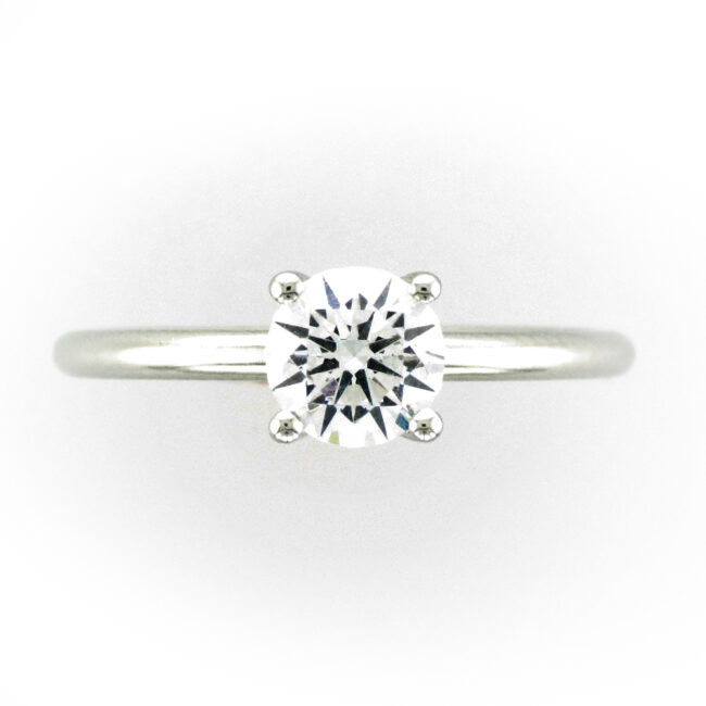 Solitaire Ring Setting with Hidden Diamonds