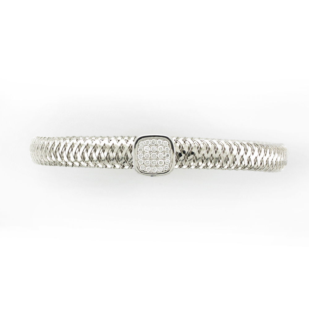 White Gold Bracelet with Pave Diamonds