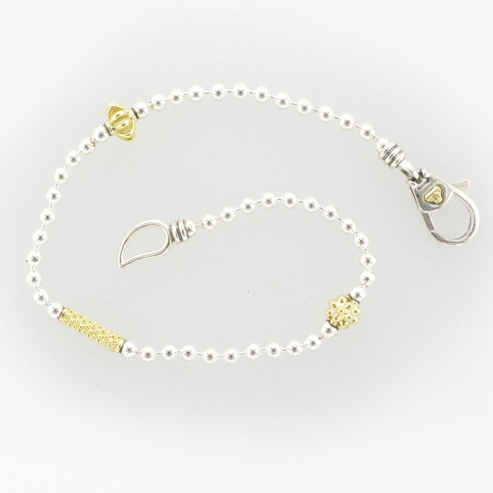 Sterling Silver and Gold Chain Bracelet