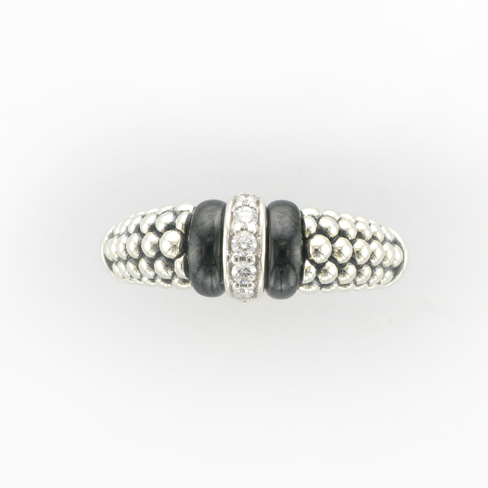Sterling Silver Caviar Ring