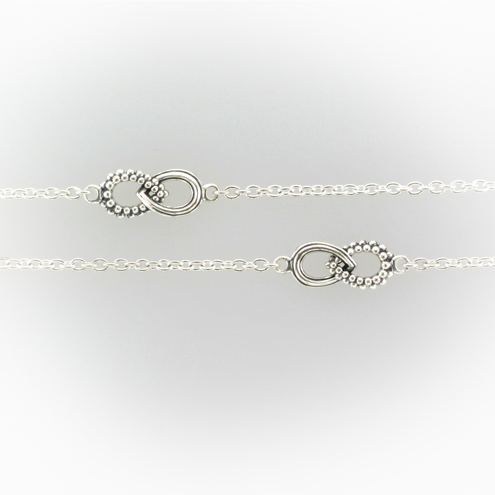 Interlocking Teardrop Necklace