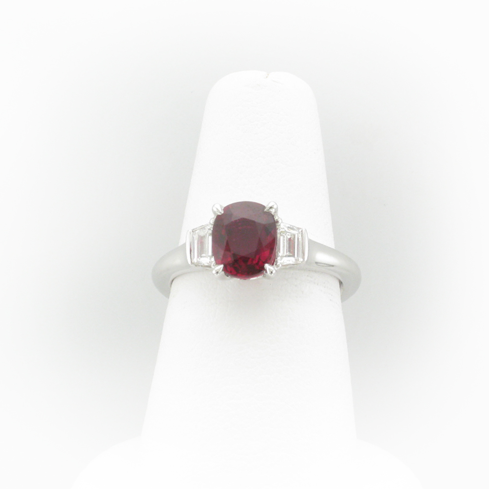 Ruby and Platinum Ring