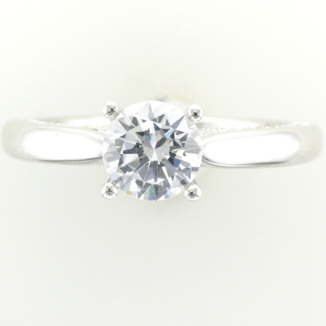 Profile Pave Engagement Ring