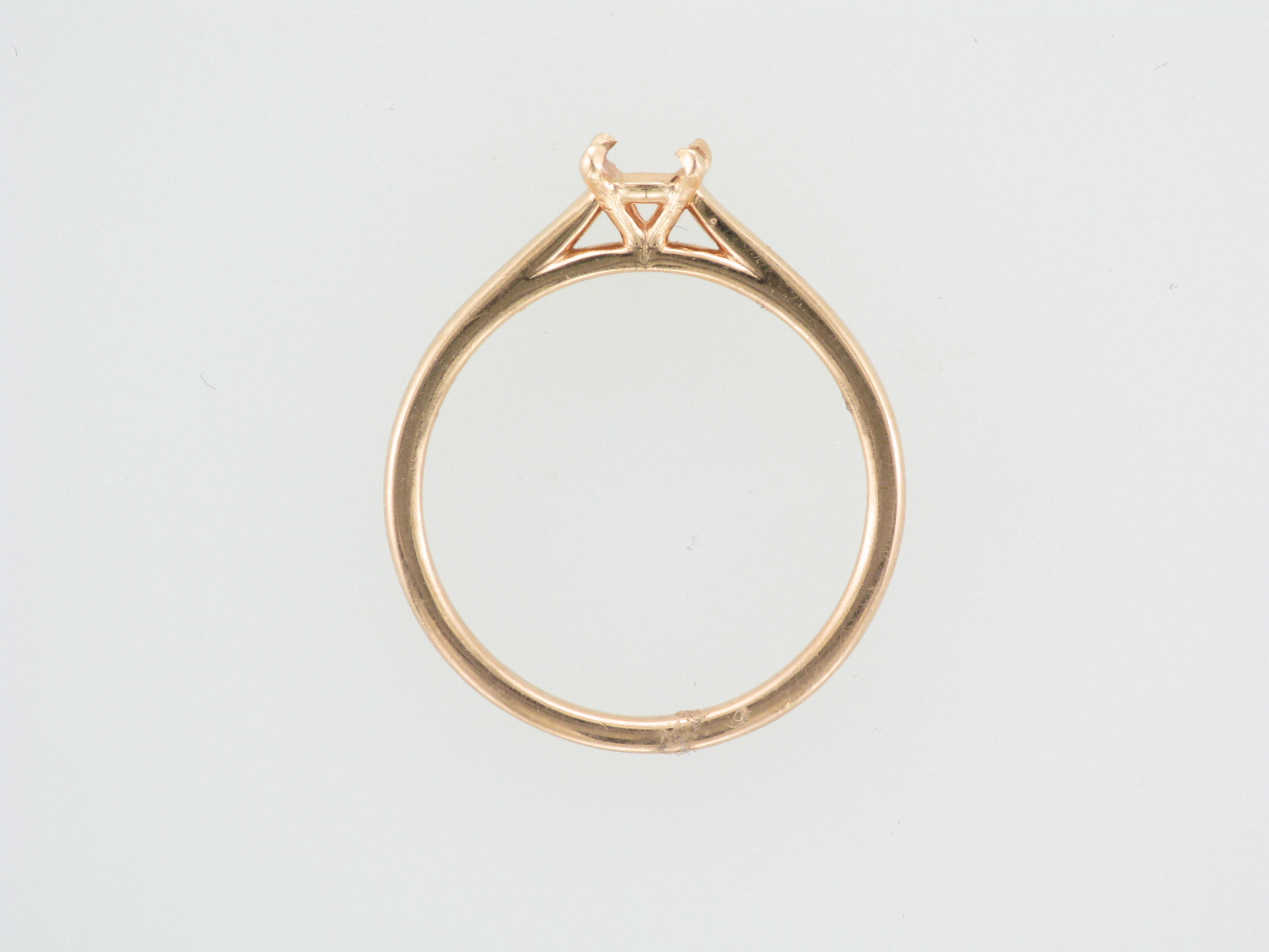 Four Prong Rose Gold Engagement Setting