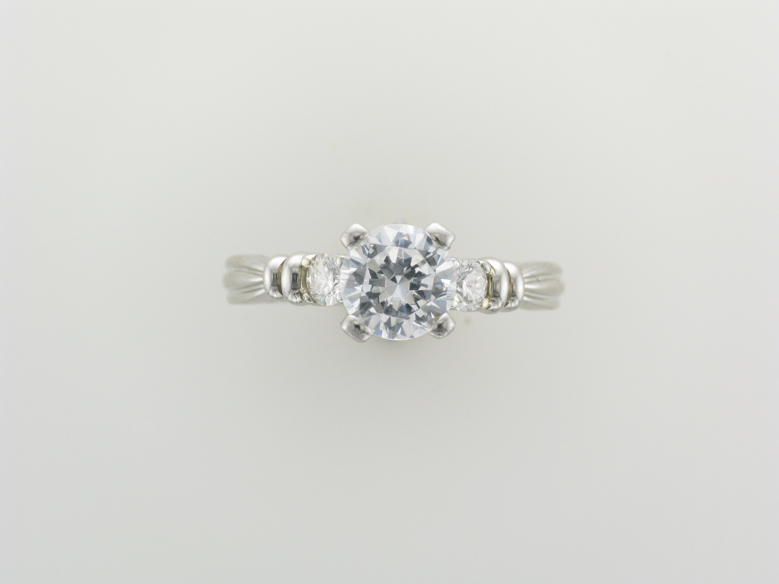 Platinum Setting with Side Stones