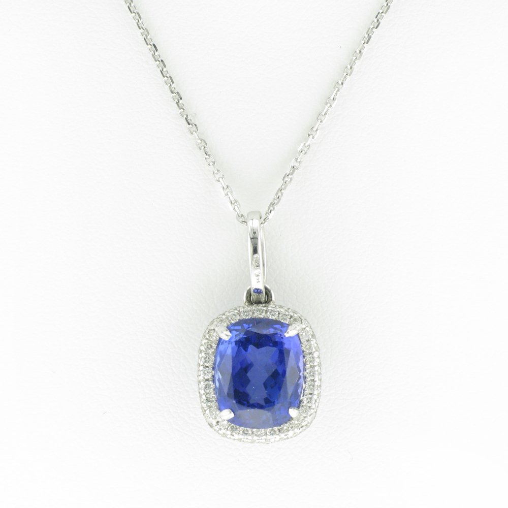 Cushion Cut Tanzanite Pendant