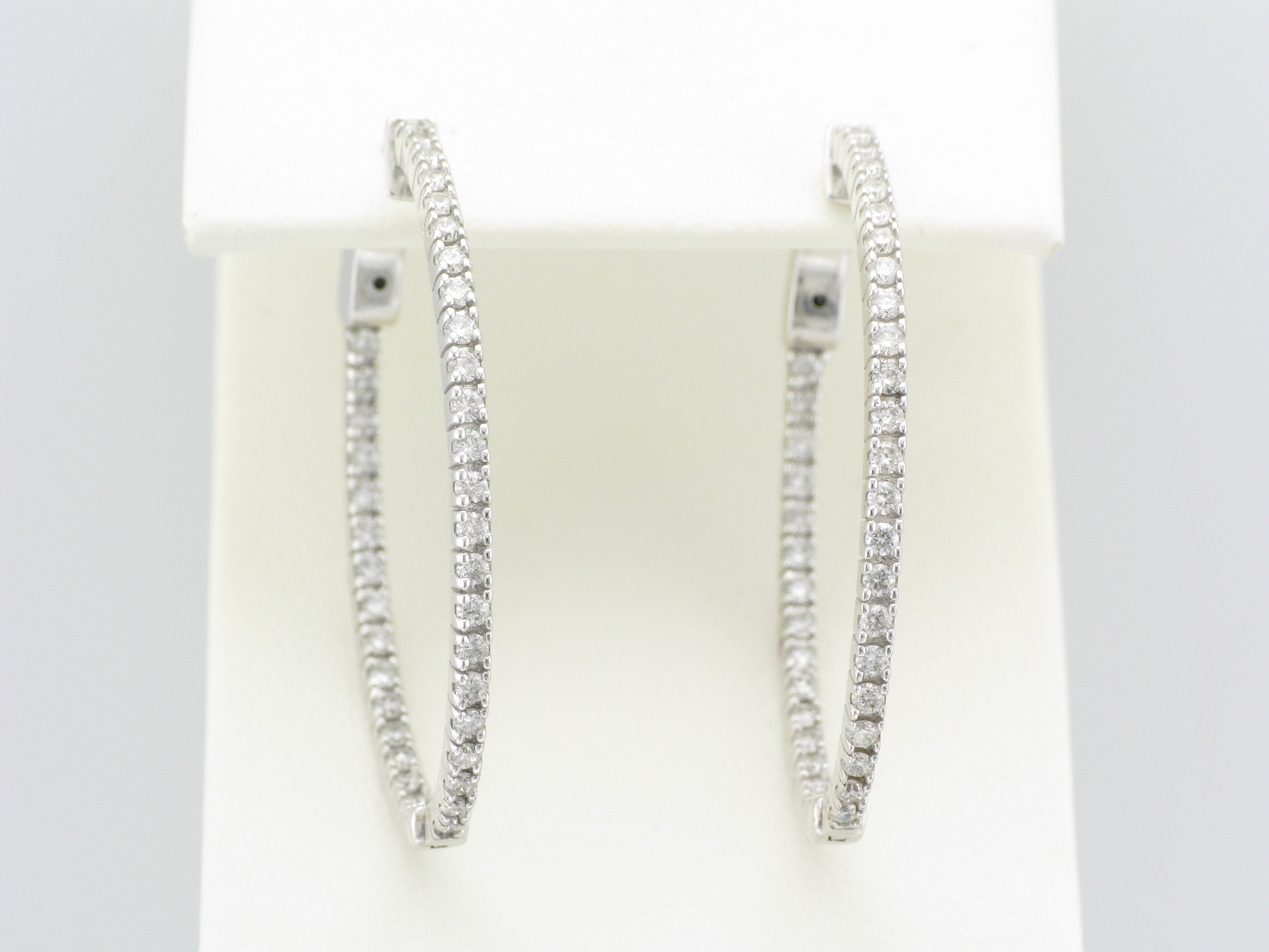 Thin Diamond Inside Out Hoops