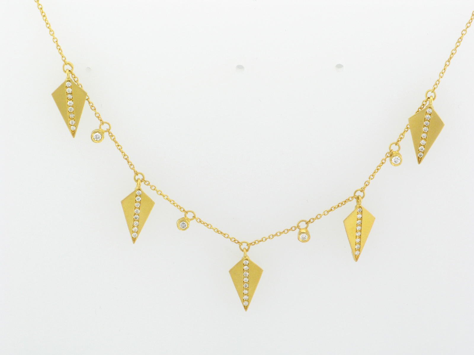 Gold Spears Necklace
