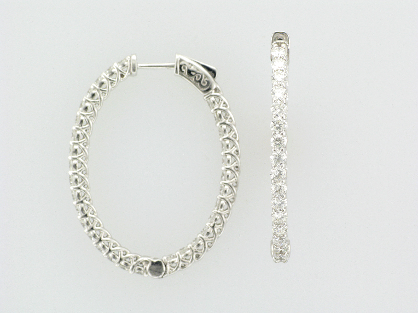 4.5 Carat Diamond Hoops