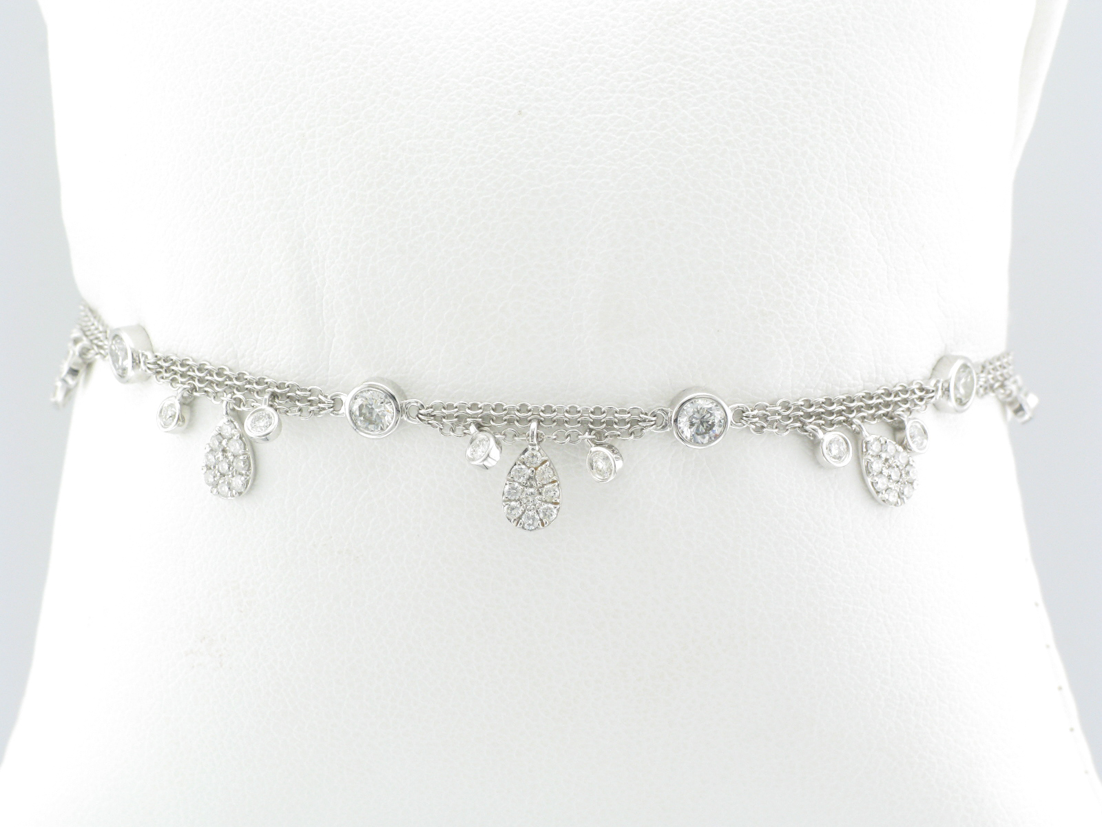Diamond By The Yard Charm Bracelet