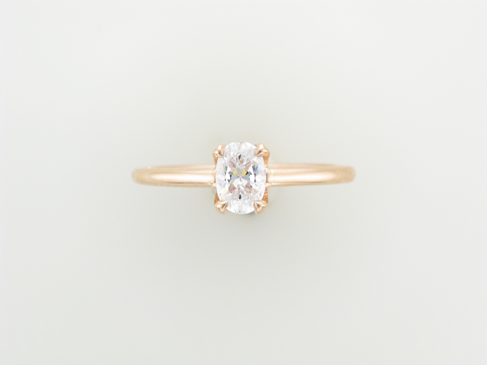 Rose Gold Oval Engagement Setting