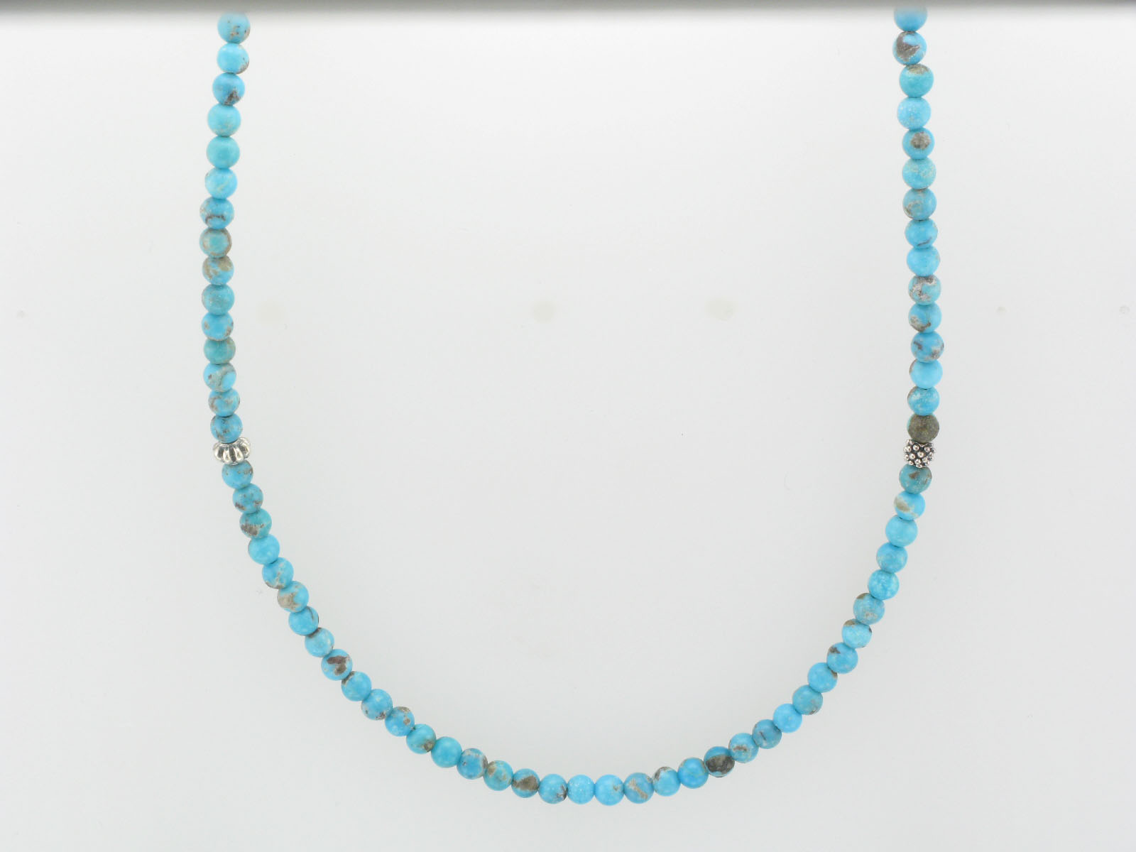 Turquoise Caviar Strand Necklace