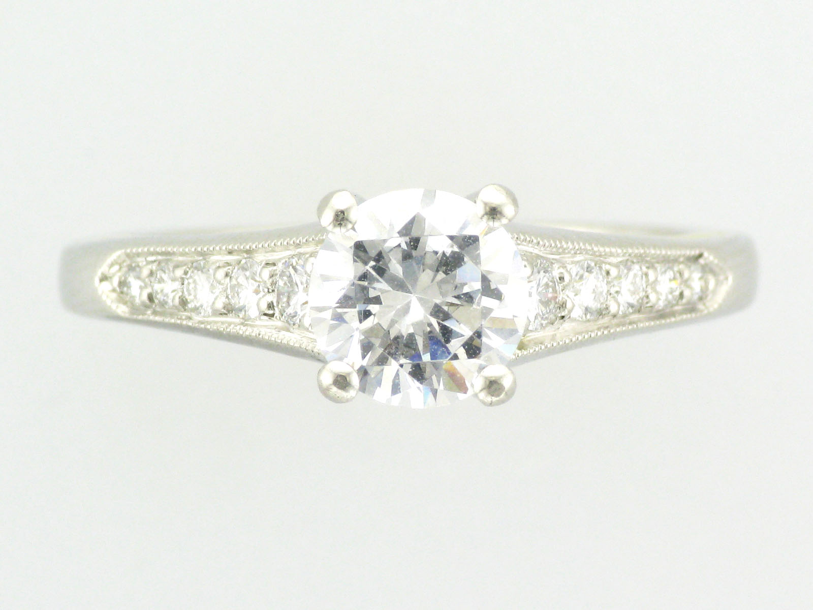 1ct Platinum and Yellow Gold Ring