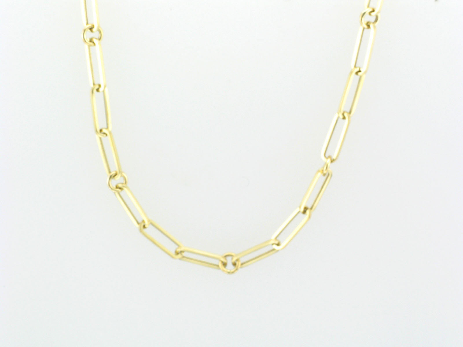 18K Yellow Gold Paperclip Chain