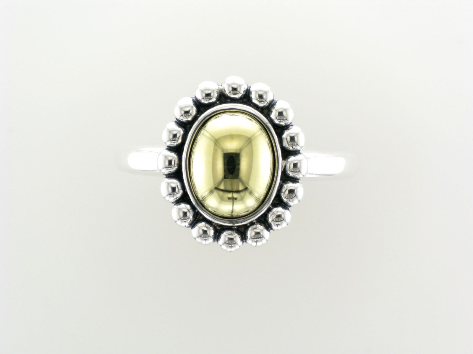 Caviar Oval Dome Ring